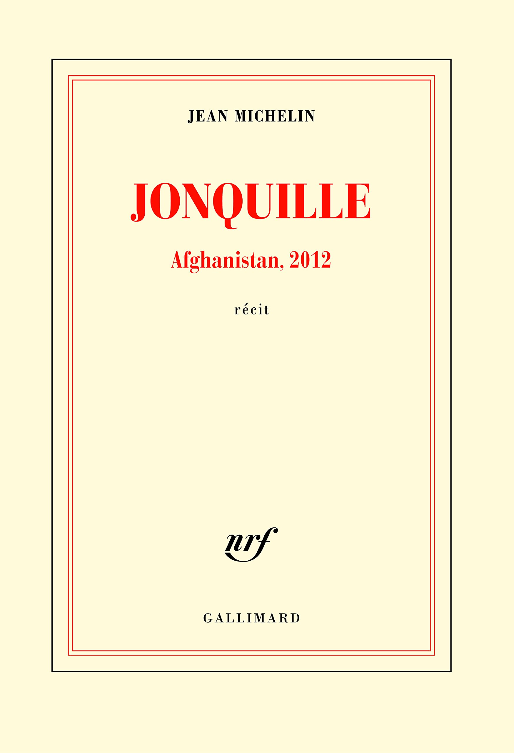 Jean Michelin, Jonquille : Afghanistan, 2012